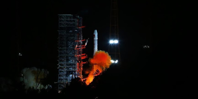 A Long March 3A rocket carrying the 22nd satellite in the BeiDou Navigation Satellite System lifts off from Xichang Satellite Launch Center, southwest China's Sichuan Province, Mar. 29, 2016. Photo Credit: Xinhua/Wang Yulei