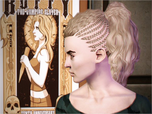 Outstanding My Sims 3 Blog City Side Braids Store Hair By Serabiet Short Hairstyles For Black Women Fulllsitofus