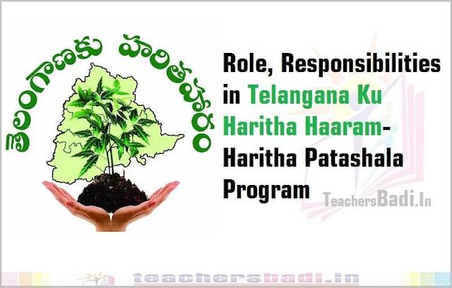 Role, Responsibilities,Telangana Ku Haritha Haaram,Haritha Patashala Program