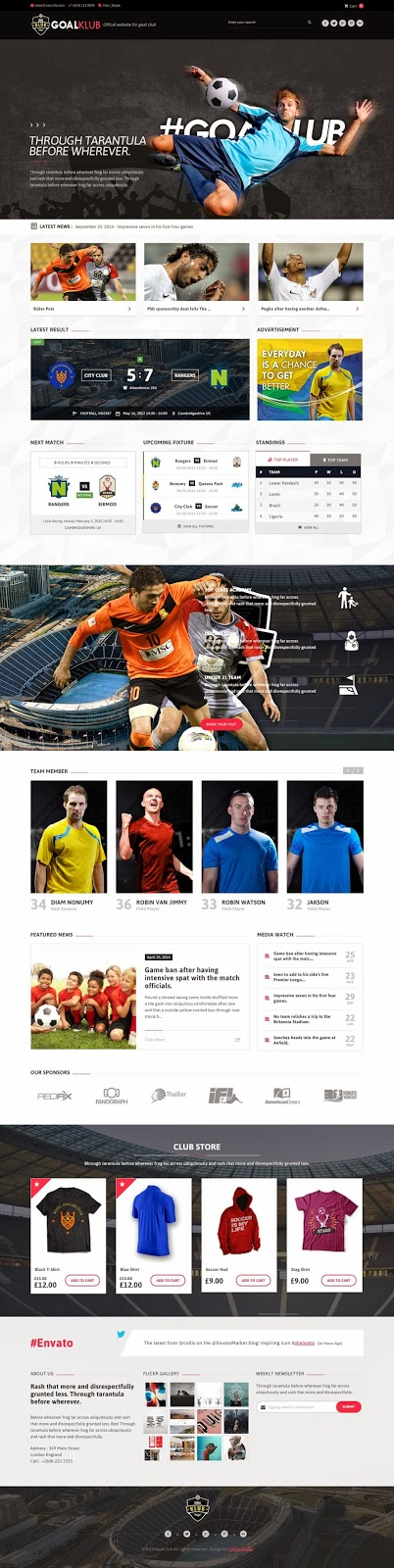 Premium Sports & Events WordPress Theme 2015