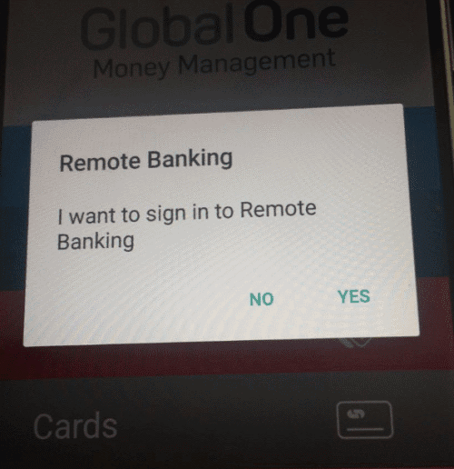 Confirm your on Capitec App you are logging in remotely - iPAY Method - Hollywoodbets