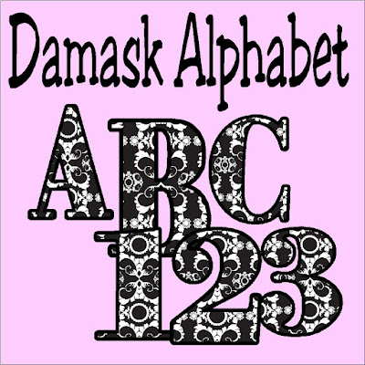 Decorate your scrapbook pages or posters with this beautiful Damask alphabet. Alphabet is available as a PNG format you can download for free and use anywhere.