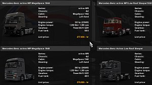 Three Mercedes MP1 Truck Pack