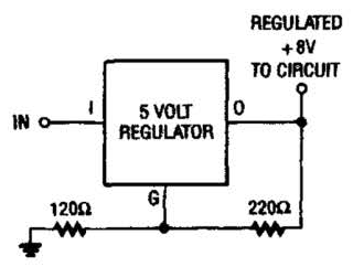 Simple 8V From 5V Regulator Circuit Diagram