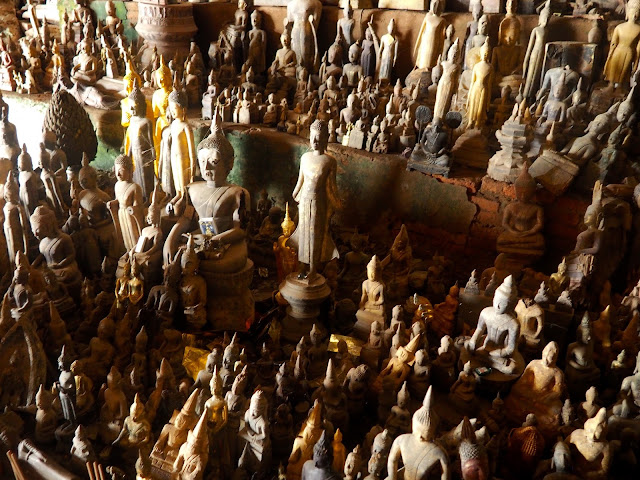 Buddha figurines in the Tham Ting (Pak Ou) cave by the Mekong river, Laos