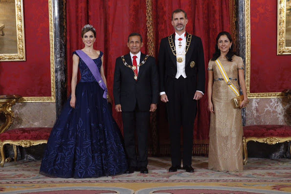 Queen Letizia And King Felipe Hosted A Dinner For President Of Peru