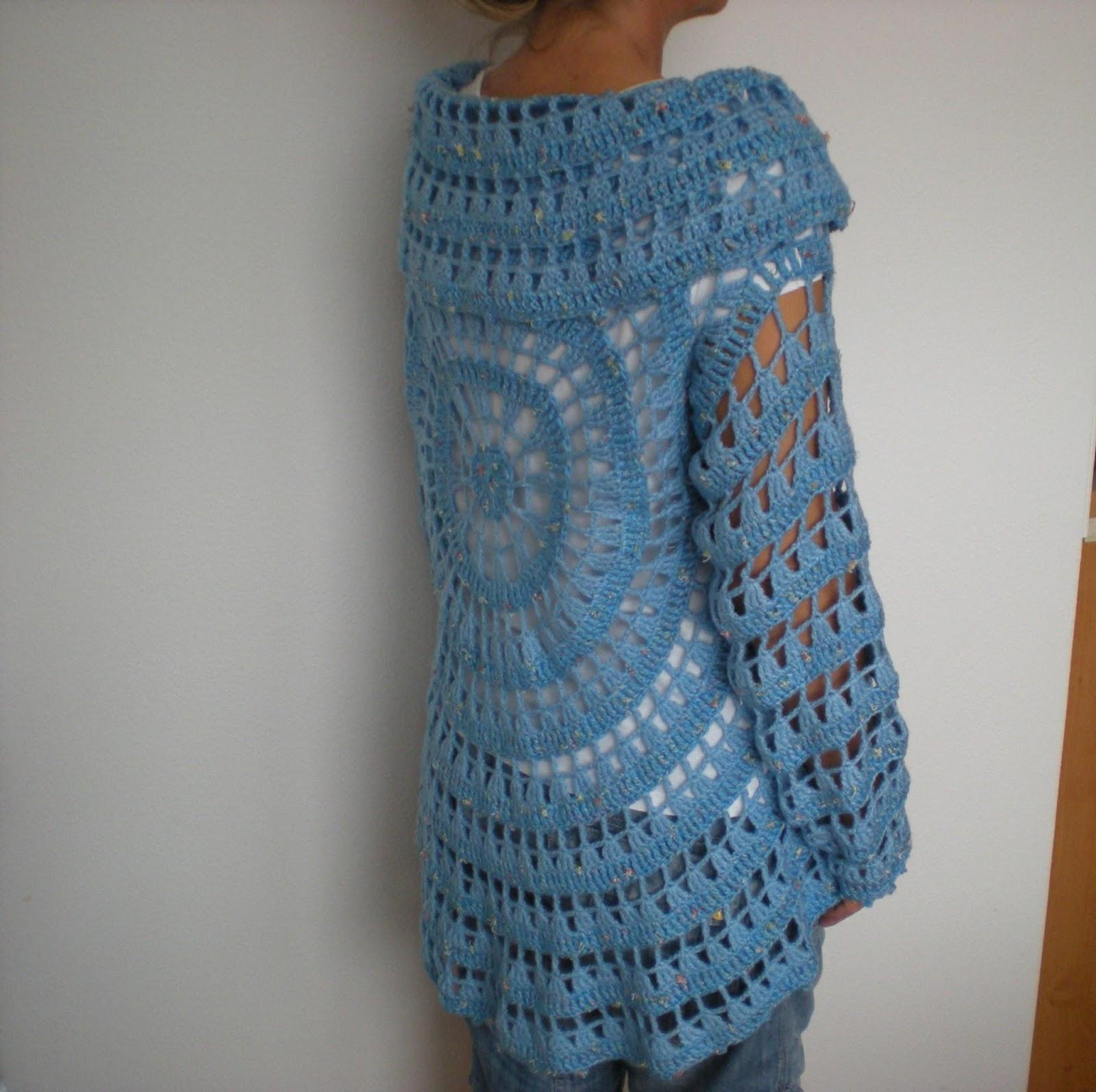 Free Crochet Pattern Circle Sweater : EmmHouse: Another circular cardigan ? free crochet pattern