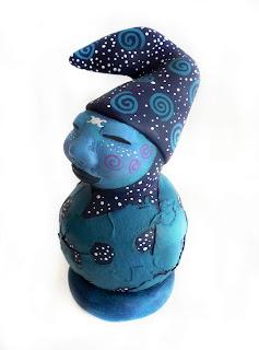 OOAK Triple Moon Goddess Spirit Doll Sculpture