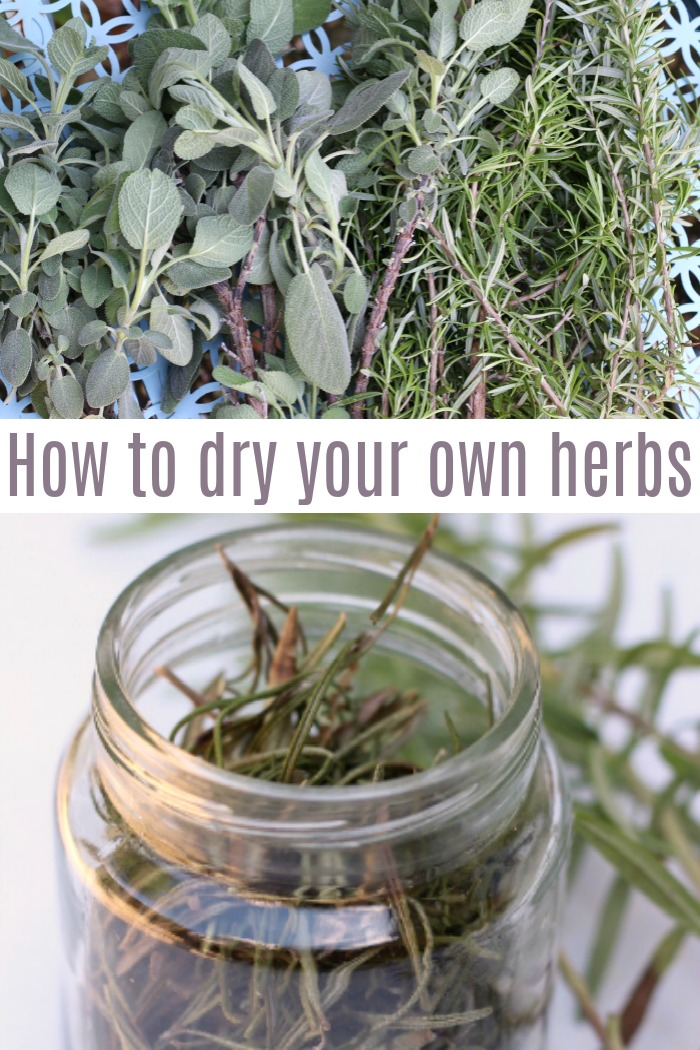 It's so easy to dry your own herbs, using everything from your garden and saving money