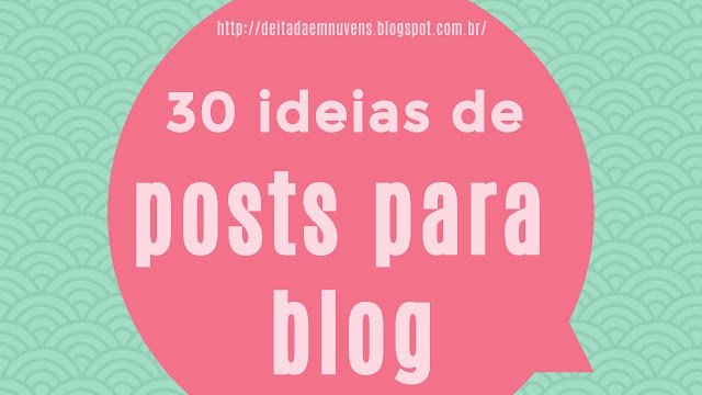 ideias para blog e youtube