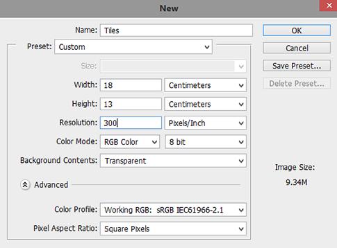 Photoshop-new-document-settings