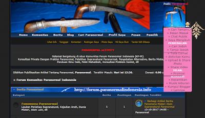 situs komunitas forum paranormal Indonesia