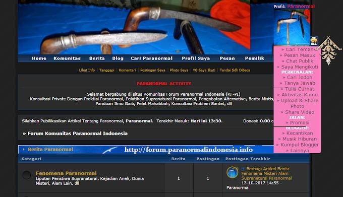 Kini Anda Bisa Bergabung di Forum Komunitas Paranormal Indonesia