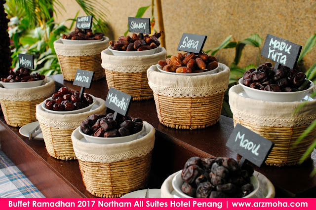 Buffet Ramadhan 2017 Northam All Suites Hotel Penang, pelbagai jenis kurma di buffet ramadhan northam hotel, buffet ramadhan di penang 2017, harga buffet ramadhan di northam hotel penang, tempat berbuka puasa di penang, buffet ramadhan 2017, buffet ramadhan penang,