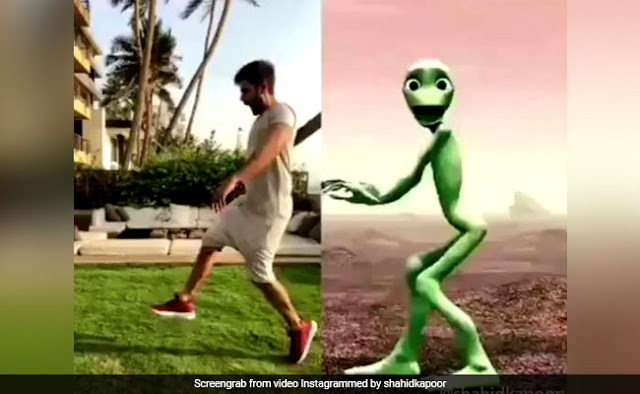 Shahid Kapoor played with Alien Dance Competition, watching video viral