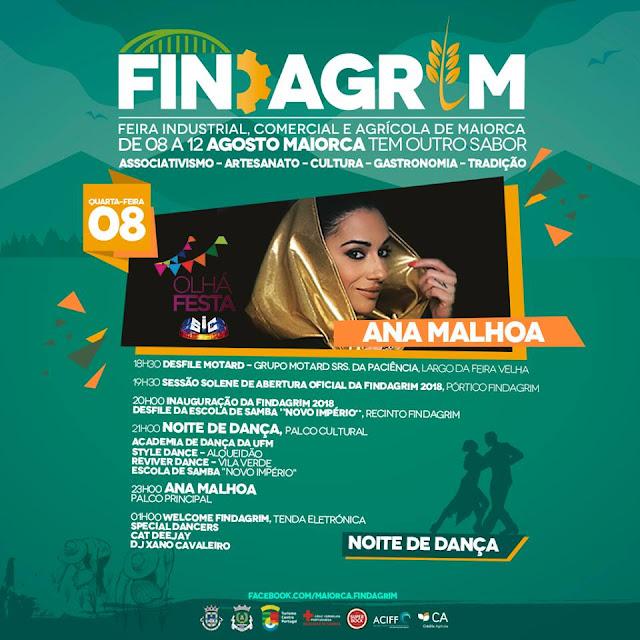 8 de agosto - Noite de Dança - FINDAGRIM 2018