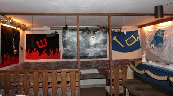 Wanddekoration Höllenseite und Himmelsseite