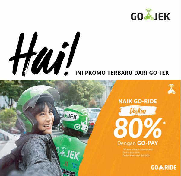 Gopay Gojek: Tarif Promo Diskon 80% GoJEK Untuk Pengguna GOPAY
