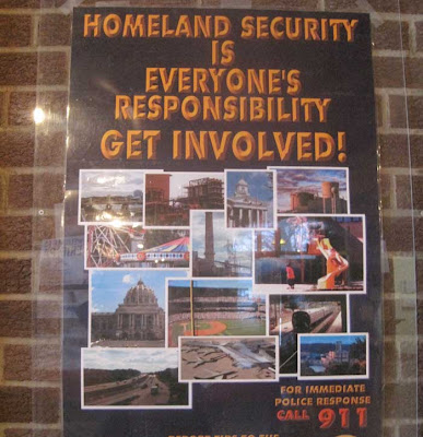 Poster from Homeland Security Department