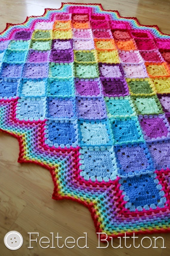 Happy Harlequin Blanket--Free Crochet Pattern by Felted Button