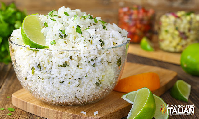 Chipotle Copycat Cilantro Lime Rice close up