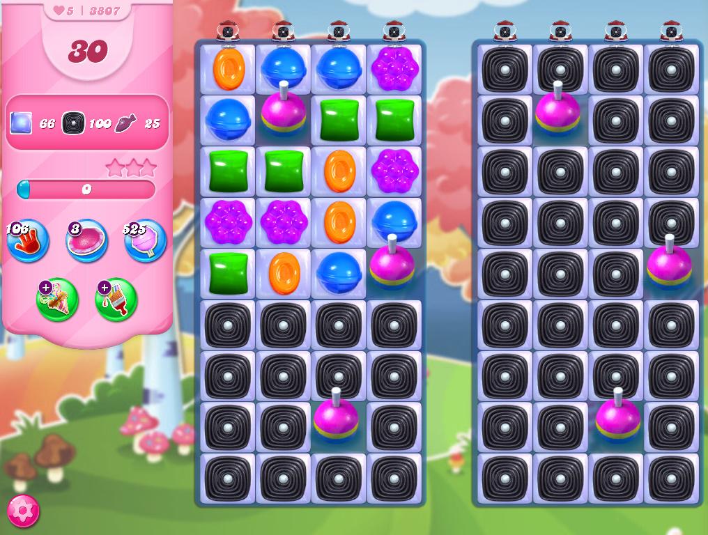 Candy Crush Saga level 3807