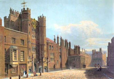 St James's Palace  from The History of he Royal Residences by WH Pyne (1819)