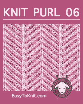 #Knit Herringbone stitch, Easy Knit Purl Pattern #easytoknit