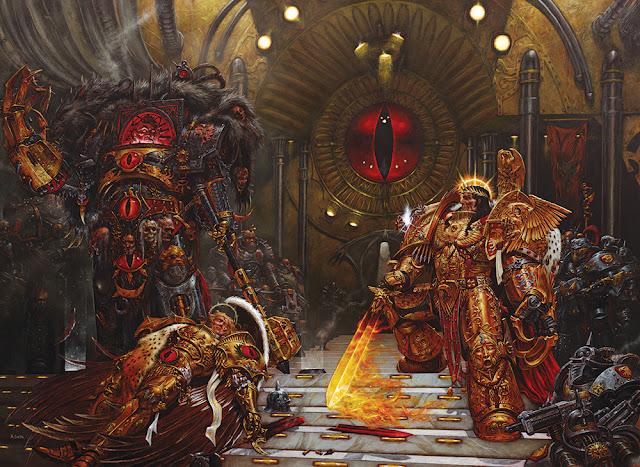 Horus, Sanguinius y el Emperador