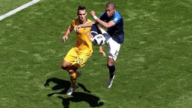Hasil Pertandingan Piala Dunia 2018: Prancis vs Australia Skor 2-1