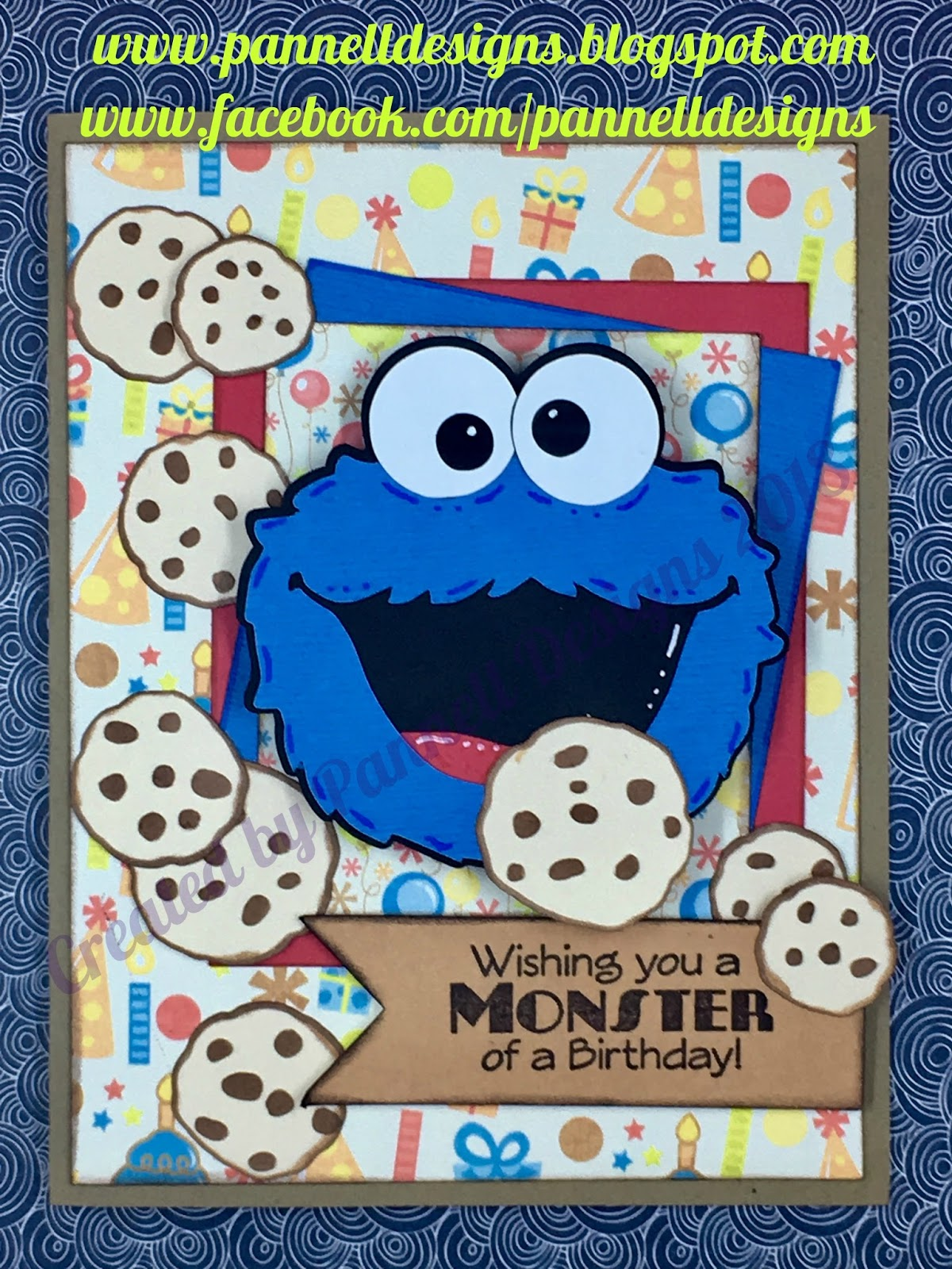 Pannell designs paper crafting cookie monster birthday card cookiemonsterfaceimg7002g bookmarktalkfo Choice Image