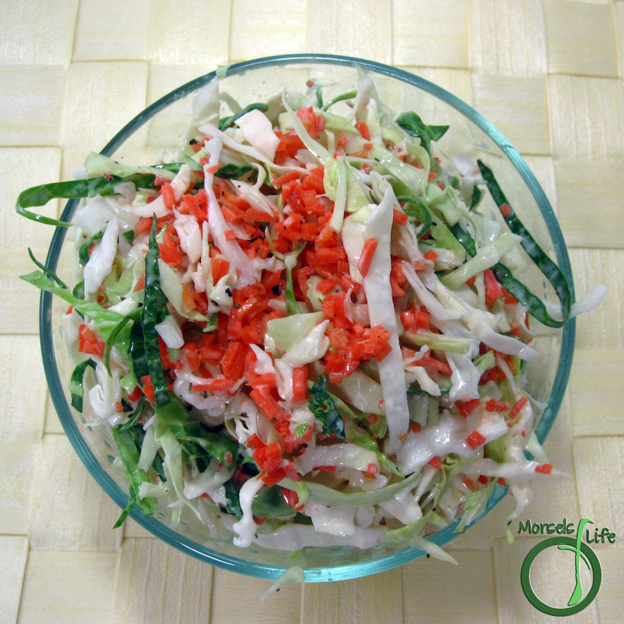 Morsels of Life - Cole Slaw - A simple and straightforward cole slaw with a light and tangy mayo dressing.