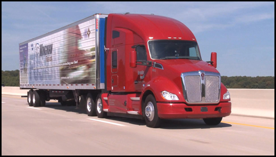Kenworth T680 equipped with Bendix Wingman Fusion