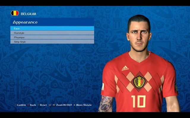 Eden Hazard New Face PES 2017
