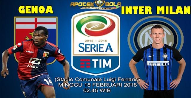 Prediksi Genoa vs Inter Milan 18 Februari 2018