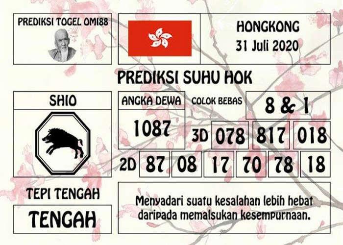Kode syair Hongkong Jumat 31 Juli 2020 229