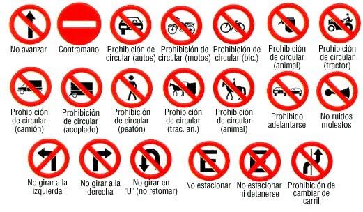 señales de tránsito en viajes