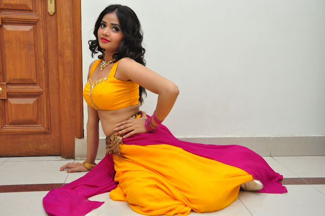 Shreya Vy Sizzling Pics in Yellow Ghagra Choli at Gentleman audio release function