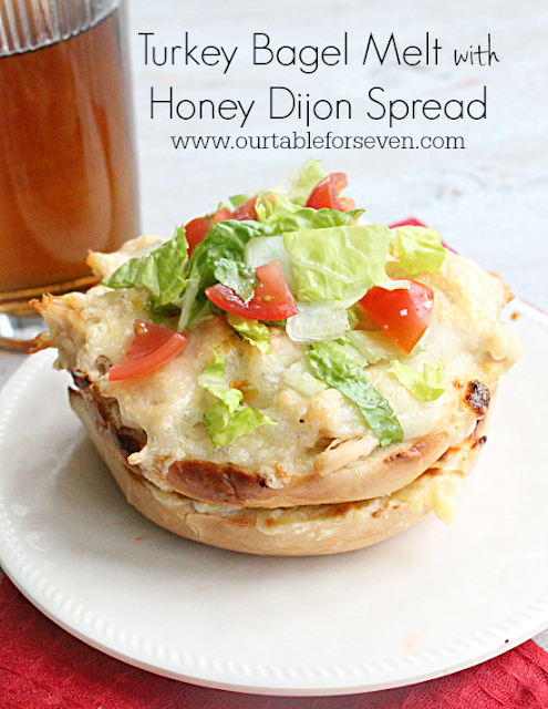Turkey Bagel Melt with Honey Dijon Spread: Table for Seven