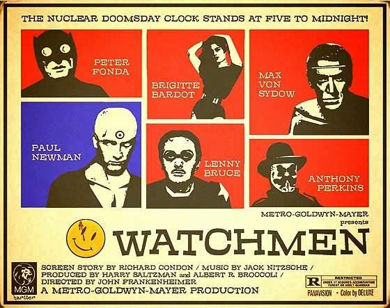 Fonda, Bardot, and Newman, in Watchmen