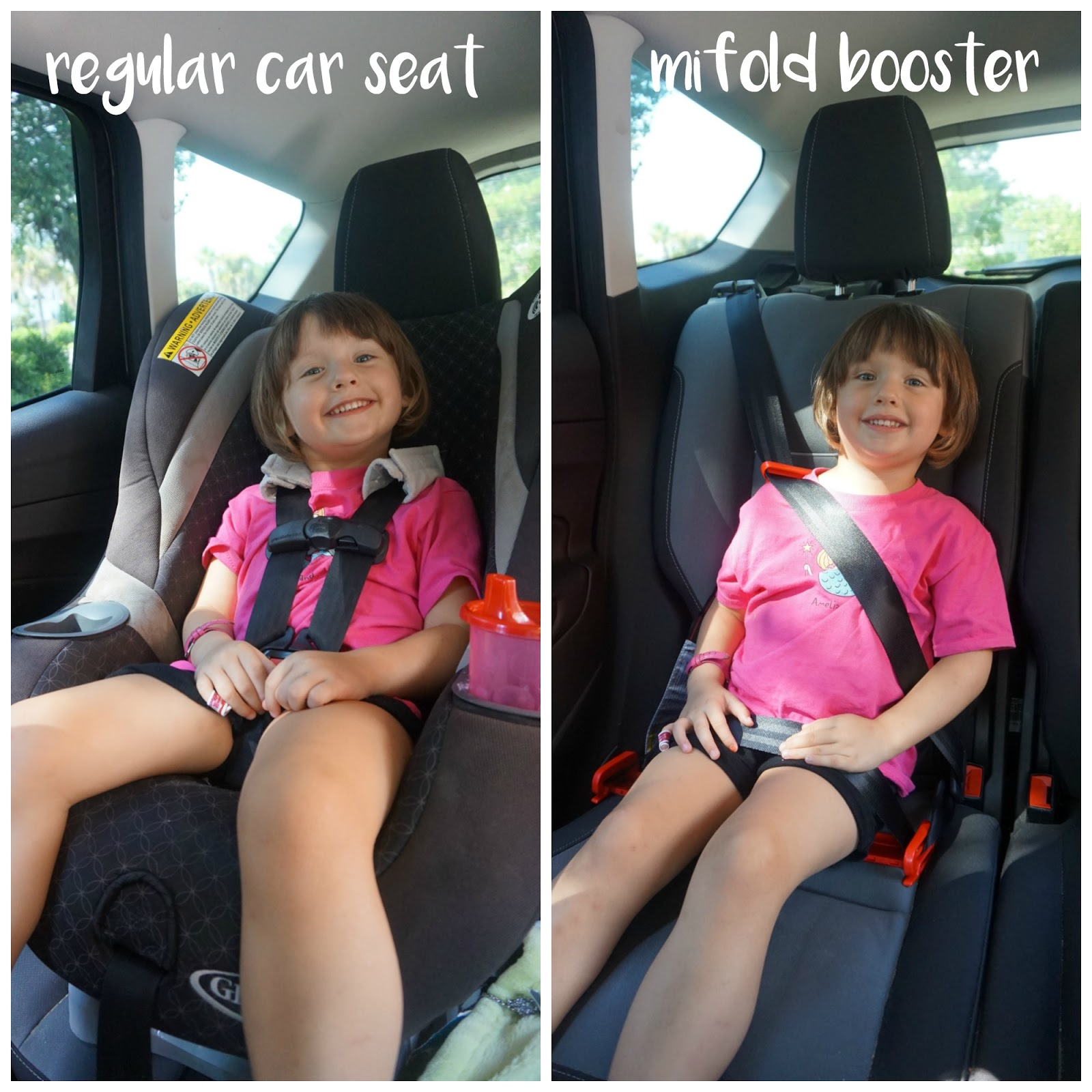 Same Day Diffe Car Seats Look How Much Smaller The Mifold Is Child Booster Seat Laws In Michigan