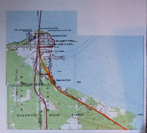 Midland to Mackinac Trail Map