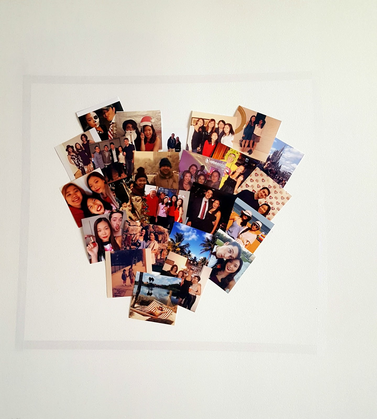 DIY: Heart Photo Collage Wall Art - La Vie en May - Petite ...