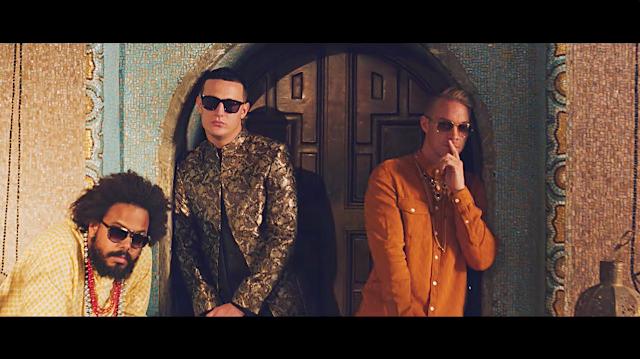 DJ Snake 與 Major Lazer 三人於 Lean on 單曲影片中的合照