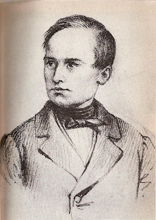Mazzini as a young man, a drawing dated at around 1830