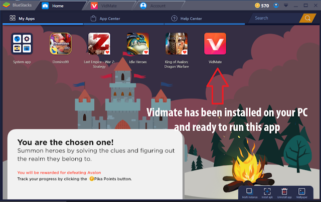 Download VidMate App for PC Using Bluestack