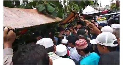 Massa Ormas Islam Sumbar Hadang Banser GP Ansor di Perbatasan Sumbar – Sumut