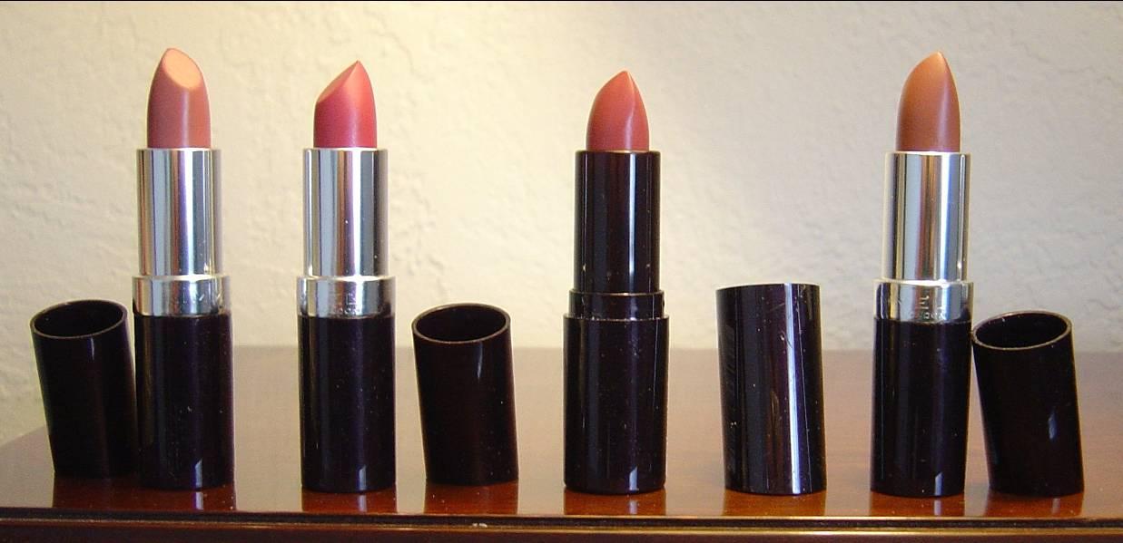 four Rimmel Lasting Finish Intense Wear Lipsticks.jpeg