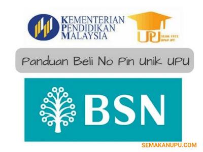 Panduan Membeli No. Pin Unik UPU di BSN