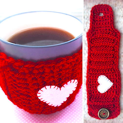http://littlemonkeyscrochet.com/valentines-day-mug-cozy/